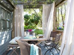 Outdoor Curtains Dining Deck