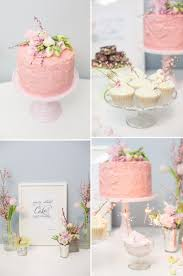 Simple Cake Topper Dessert Table Wedding Blush Pink Flower By Passion For Flowers