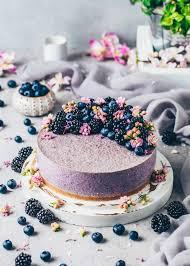blaubeer chia pudding kuchen