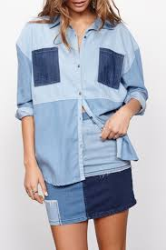 minkpink patch denim shirt from new york by luna u2014 shoptiques