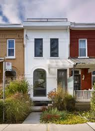 100 Row Houses Architecture AlephBau Breaks Torontos Row Houses Monotony With An
