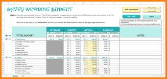 6 Wedding Budget Template Excel