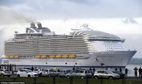 harmony of the seas makes titanic look a minnow as it docks in