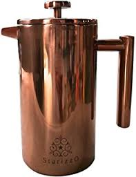 French Press Coffee Maker With Beautiful Copper Finish Premium Insulated Stainless Steel Closing Lid