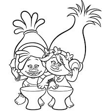Trolls 2016 Para Pintar Dibujos Para Imprimir Y Colorear A Trolls