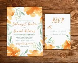 Floral Invitation Watercolor Wedding