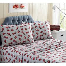 100 Fire Truck Bedding 3Piece S Brick Twin Sheet SetM521362 The Home Depot