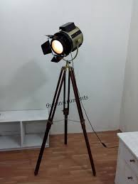 Photographers Tripod Floor Lamp by Classic Theatre Spot Light With Solid Wooden Tripod Floor Lamp