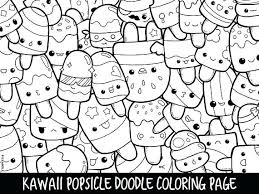 Kawaii Coloring Pages Animals
