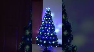 Fibre Optic Christmas Trees Uk by Christmas Tree World Andromenda Fibre Optic Tree Youtube