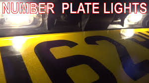 how to fix rear number plate lights license plate bulbs or wiring