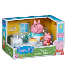 peppa pig dirt kitchen playset with 2 articulated figures