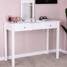 Shop Costway Vanity Table Dressing Table Flip Top Desk Mirror 2