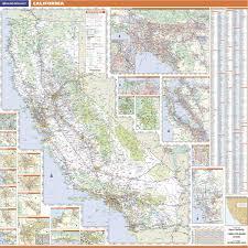 California Wall Map By Rand McNally