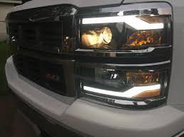 Winjet Headlights W/DRL For 2014-2015 Chevrolet Silverado - YouTube