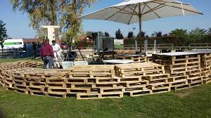 Temporary Pallet Barrier Wall