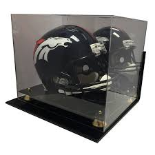 Acrylic Wall Mount Football Helmet Display Case UV Holder NFL NCAA Full Size New