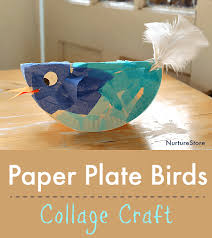 Easy Paper Plate Bird Craft