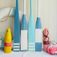 Decorative Wooden Lobster Trap by Sea Blue Coloured Oars And Lobster Pot Bouys Now Available Www