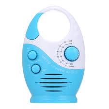 am fm mini duschradio badezimmer wasserdichtes radio hängendes musikradio eingebauter lautsprecher ohne batterie