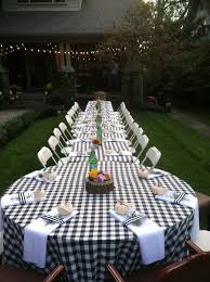 Gingham Tablecloths For A Reception Or Rehearsal Dinner DecorationsRehearsal DinnersWedding