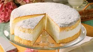 traumhaft leckere käse sahne torte mit puderzucker