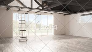 100 Mezzanine Design Minimalist Mezzanine Loft Empty Industrial Space Wooden
