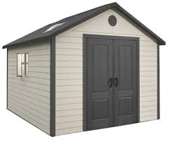 lifetime 11x11 plastic storage shed with floor 6433