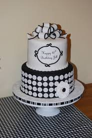 Black And White 40Th Birthday Cake on Cake Central