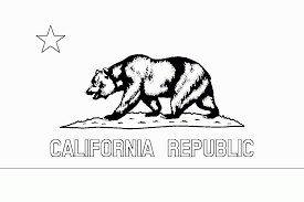 California State Flag Coloring Page Many Interesting Cliparts