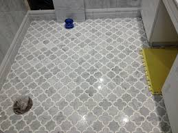 edmonton tile install white marble bathroom river city tile