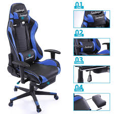 Racing Chair High Back Gaming Chair Ergonomic Recliner Office Desk ... Killabee 8212 Black Gaming Chair Furmax High Back Office Racing Ergonomic Swivel Computer Executive Leather Desk With Footrest Bucket Seat And Lumbar Corsair Cf9010007 T2 Road Warrior White Chair Corsair Warriorblack By Order The 10 Best Chairs Of 2019 Road Warrior Blackwhite Blackred X Comfort Air Red Gaming Star Trek Edition Hero