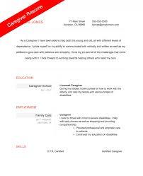 Caregiver Resume Samples And Caregivers Resume ...