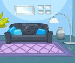 gezeichnete karikatur der zeitgenössischen wohnzimmer bunte hintergrund des wohnzimmer hintergrund der wohnzimmer mit sofa le