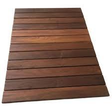 rollfloor 2 ft x 3 ft cing wood deck tile pads in brown 11115