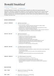 Medical Assistant - Resume Samples And Templates | VisualCV 89 Examples Of Rumes For Medical Assistant Resume 10 Description Resume Samples Cover Letter Medical Skills Pleasant How To Write A Assistant With Examples Experienced Support Mplates 2019 Free Summary Riez Sample Rumes Certified Example Inspirational Resumegetcom 50 And Templates Visualcv