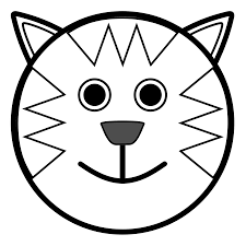 Cat Face Clipart Black And White Hd