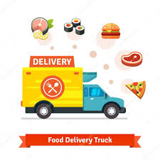 100 Food Delivery Truck Restaurant Food Delivery Truck With Meal Stock Vector