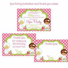 Kawaiitheocom Party Spa Birthday Card Invitations Kawaiitheocom