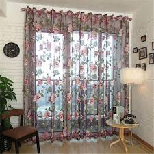Fabric For Curtains Philippines by Home Textile Rod Pocket Design Bedroom 3d Window Curtains Floral