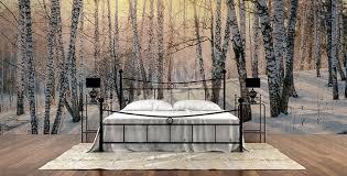 chambre foret papiers peints chambre à coucher mur aux dimensions myloview fr