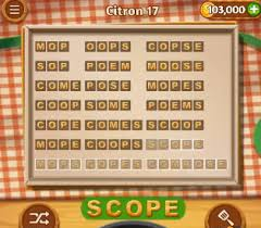 Word Cookies Citron 17 level 17 Answers AnswersKey