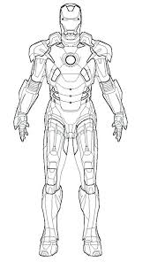 Iron Man Coloring Pages Pdf The Robot
