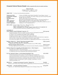 Elegant Puter Skills Resume Sample Beautiful Examples Work For A Computer Science