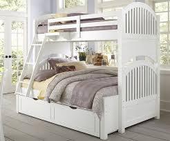 Furniture White Bunk Beds Twin Over Full Design Mattress Set