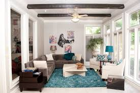 round teal rug living room contemporary with blue rug brown