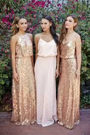 donna morgan courtney rose gold sequin dress donna morgan and