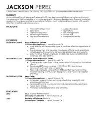 Best Branch Manager Trainee Resume Example Livecareer Rh Com Management Sample
