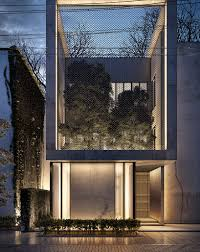 100 Cube House Design Lines Design Reveals Urban Garden Through Mesh Screen Of