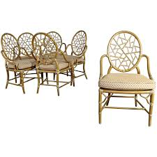 Vintage McGuire Cracked Ice Dining Chairs Rattan Set Of Six ... Safavieh Tana Grey Rattan Ding Chair Set Of Seaa Chairs Baker Fniture Milling Road Chest Table Logo Of 4 Rattan Ding Chairs By Gian Franco Legler 6 Soria Marvelous Antique Value White Floral Vintage Bamboo Round And At Real Mcguire Cracked Ice Six Brown Reading Super Cute Set In Very Nice Black Metal Farmers Argos Room